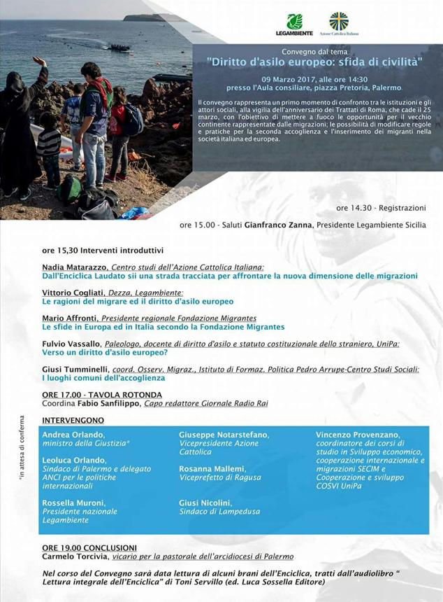 Diritto d'asilo europero: sfida di civiltà