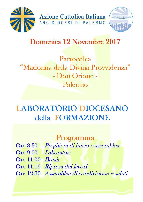1° incontro Laboratorio diocesano della formazione
