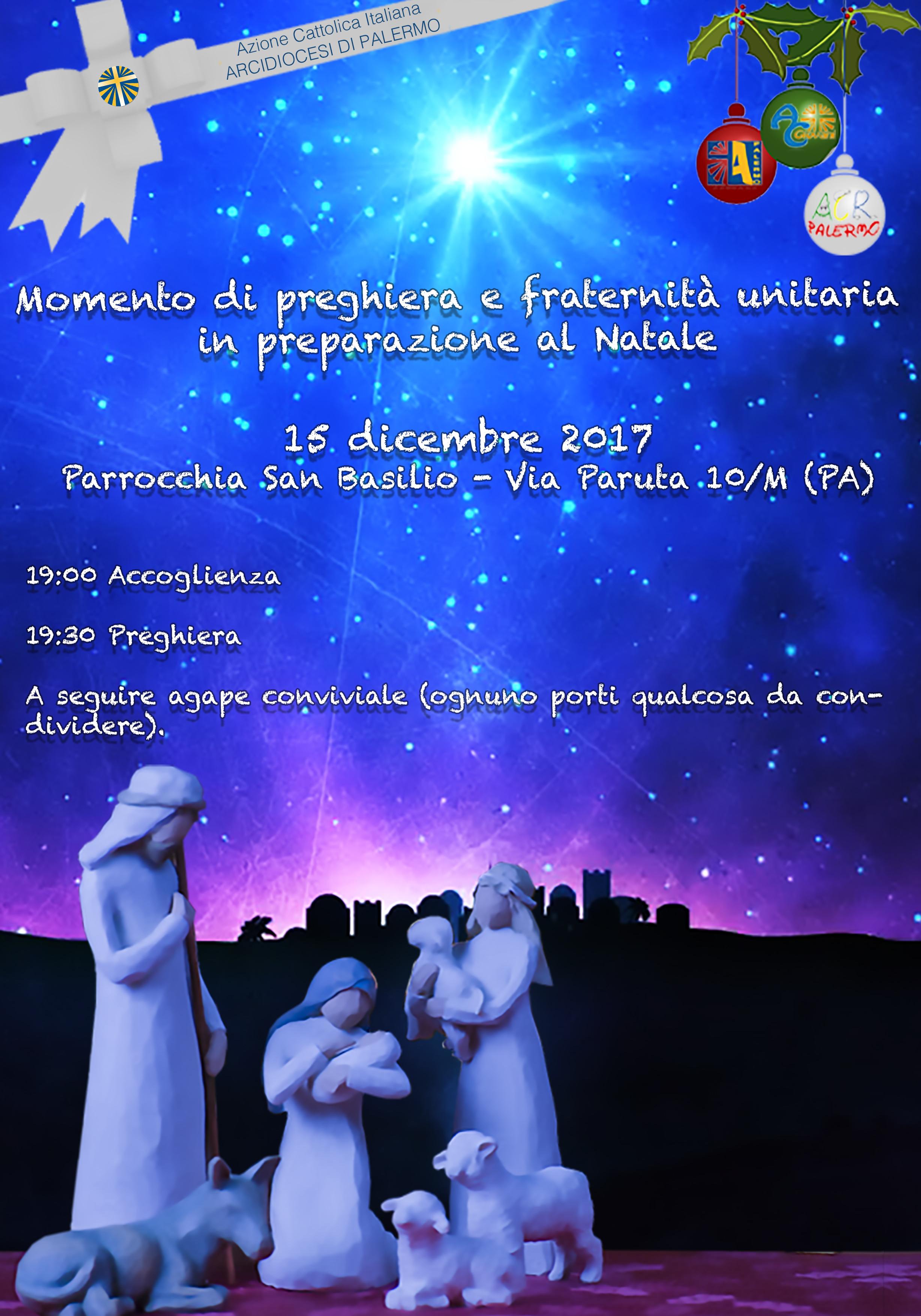 Momento di preghiera in preparazione al Natale 2017