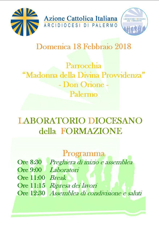 LABORATORIO DIOCESANO DELLA FORMAZIONE