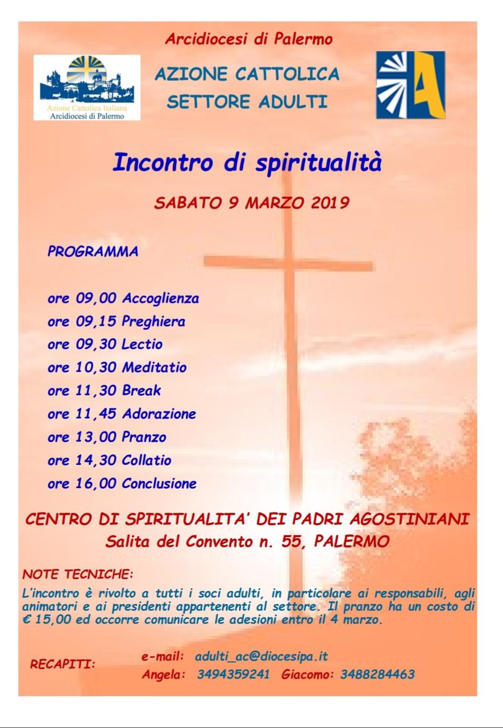 Incontro di Spiritualita' per Adulti
