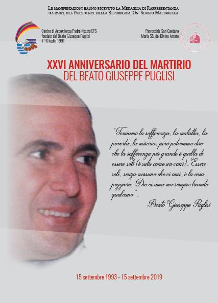 XXVI anniversario del martirio del Beato Giuseppe Puglisi