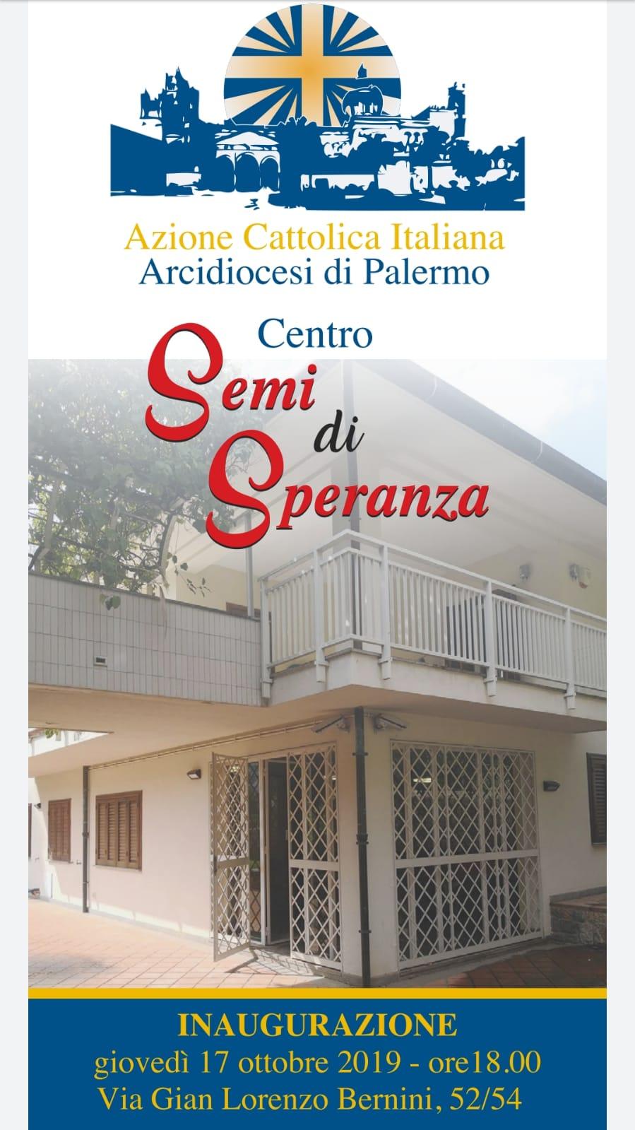 """Inaugurazione Centro """"Semi di Speranza"""""""