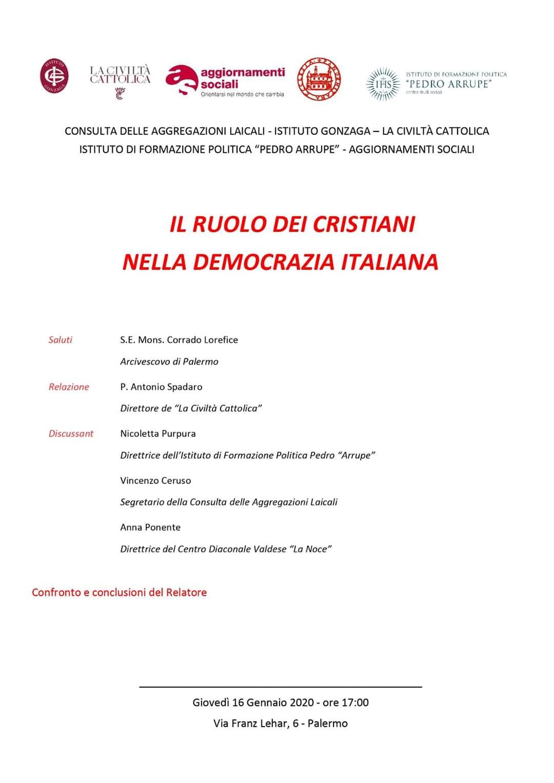 Il ruolo dei cristiani nella democrazia italiana