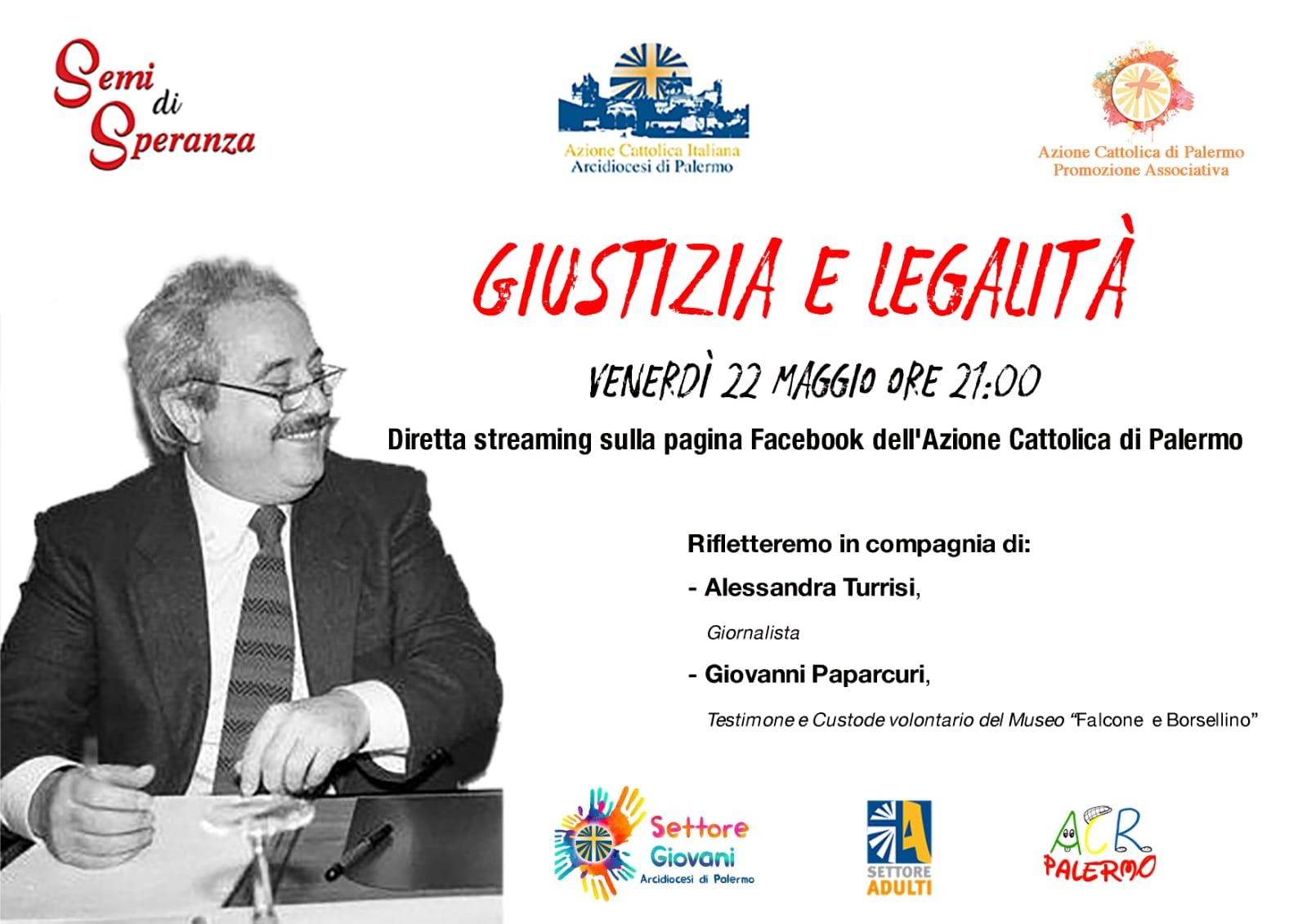 Giustizia e Legalità, diretta streaming.